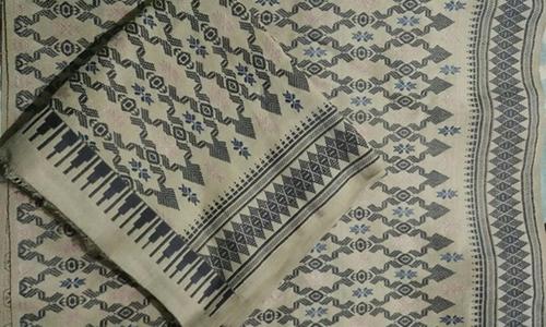 Kain Tenun Lombok Motif Lepang Warna Alami