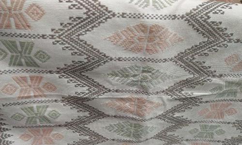 Kain Tenun Lombok Motif Sisik Ular Warna Alami
