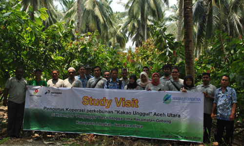 "Study Visit Pengurus Koperasi Perkebunan ""Kakao Unggul"", Aceh Utara di Kab Langkat SumateraUtara, 18-20 April 2016"